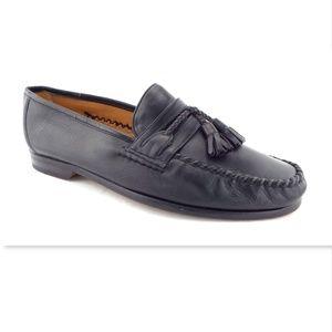 MEZLAN Black Leather Tassel Slip on Loafers 8.5 W